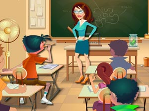 Play Naughty Classroom Game
