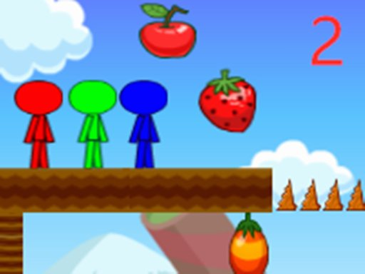 Play Stickman Bros In Fruit Island 2 Game