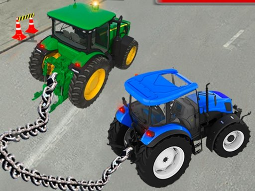 Play Chained Tractor Towing Simulator Game