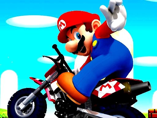 Play Super Mario Wheelie Game