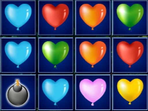 Play Heart Balloons Block Collapse Game