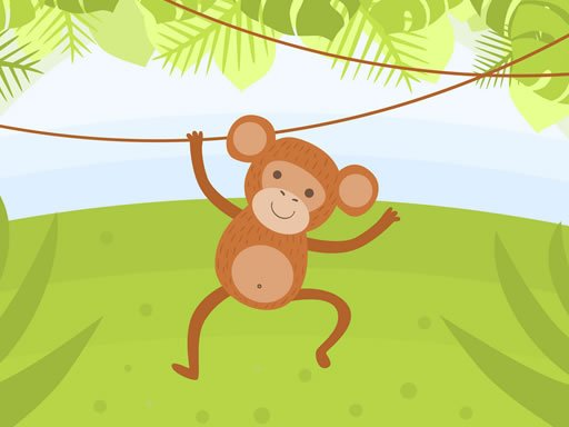 Play Funny Monkeys Coloring Game