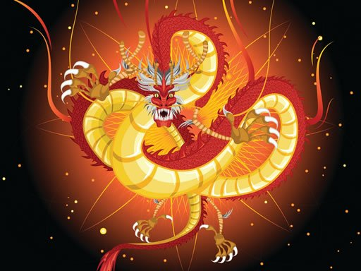 Play Chinese Dragons Coloring Game