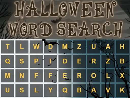 Play Halloween Word Search Game
