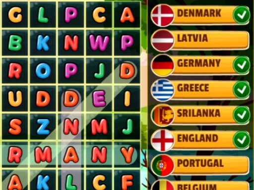 Play Word Search Countries Game