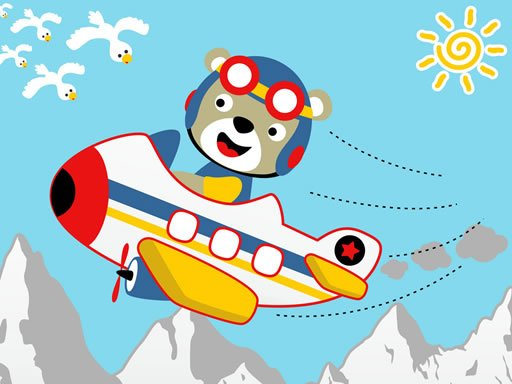 Play Friendly Airplanes For Kids Coloring Game