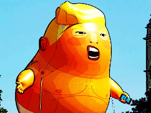 Play Trump Flying Adventure Game