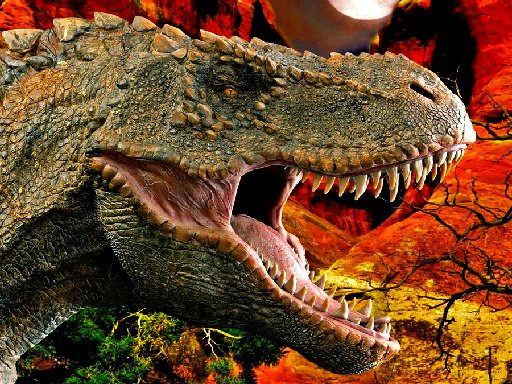 Play T-Rex Dinosaur Jigsaw Game