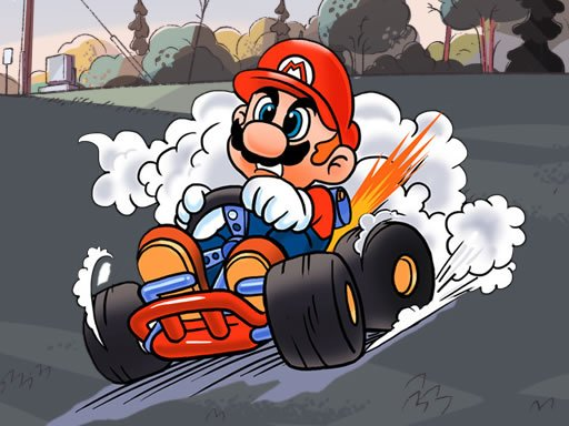 Play Mario Kart Jigsaw Game