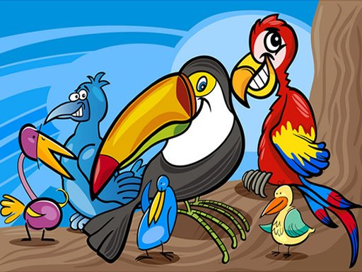 Play Exotic Birds Coloring Game
