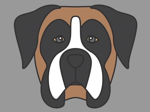 Play Doggy Face Coloring Game