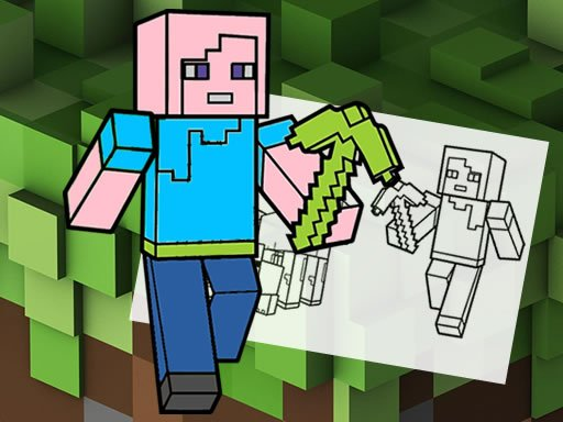 Play Minecraft Fun Coloring Book Game