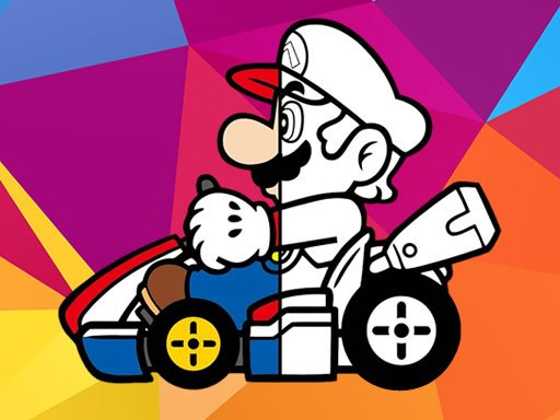 Play Mario Driving Coloring Book Game