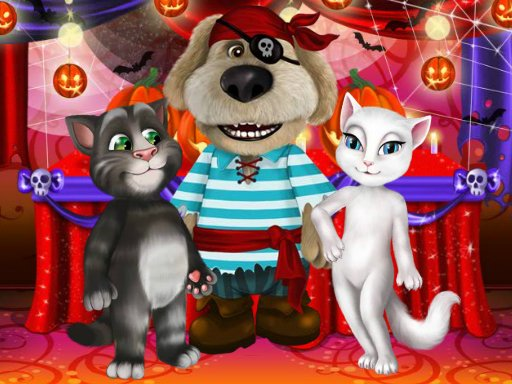 Play Talking Tom And Angela Halloween Party Game