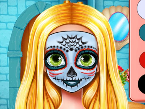 Play Sister Halloween Face Paint Game