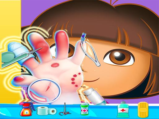 Play Dora Hand Doctor Fun Game