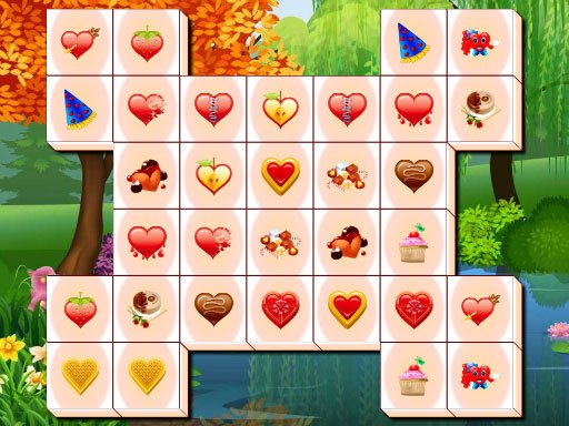 Play Valentines Day Mahjong Game