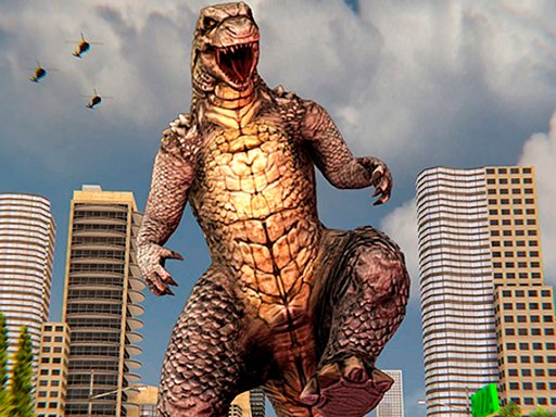 Play Monster Dinosaur Rampage City Attack Game