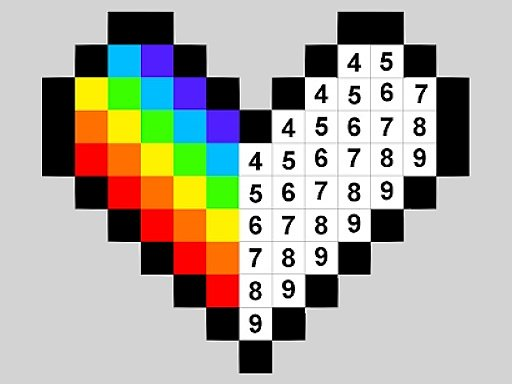Play Color by Numbers Game