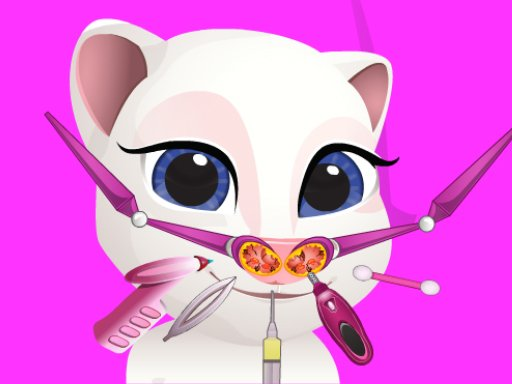 Play Talking Tom Angela Nose Doctor Game