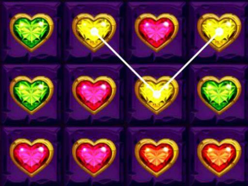 Play Heart Gems Connect Game