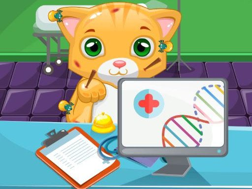 Play Cat Doctor Sim Game