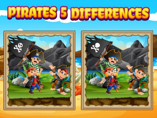 Play Pirates 5 Differences Game