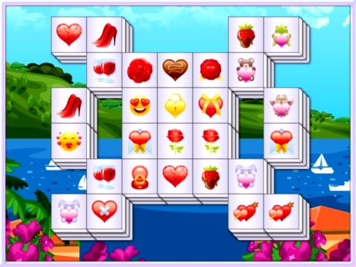 Play Valentines Mahjong Deluxe Game