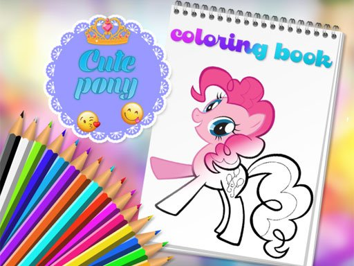 Play Cute Pony Coloring Book Game