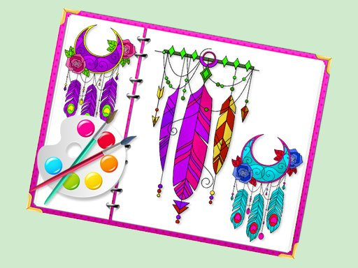 Play Miraculous Dream Catcher Coloring Book Game