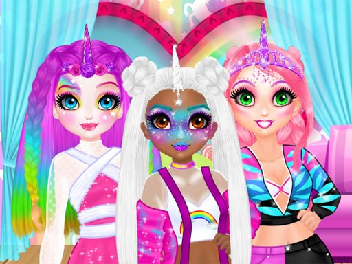 Play Miss Charming Unicorn Hairstyle Game