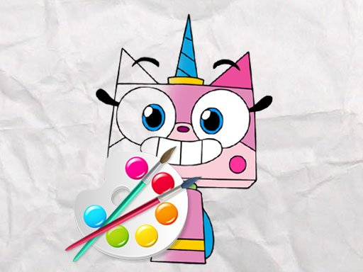 Play Unicorn Kitty Coloring Book Game