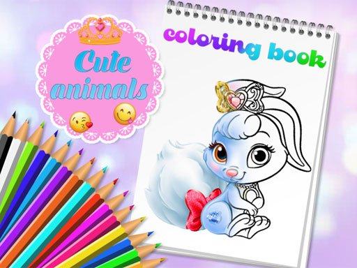 Play Cute Animals Coloring Book Game