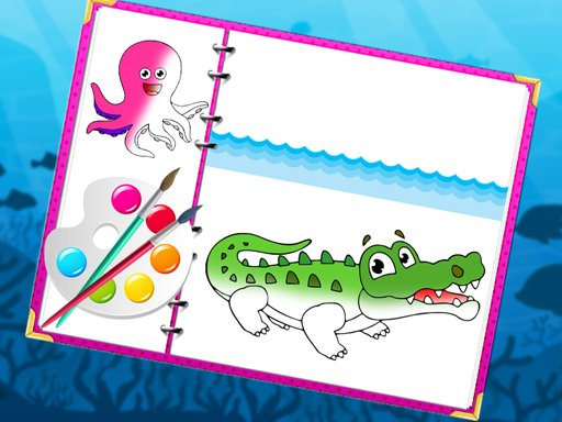 Play Sea Creatures Coloring Book Game