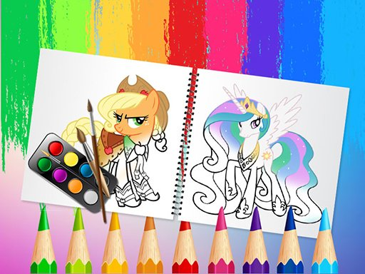Play Sweet Pony Coloring Book Game