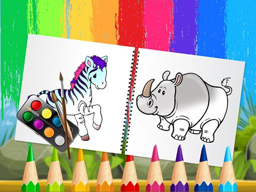 Play Funny Animals Coloring Book Game