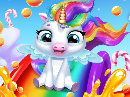 Play Glitter Unicorn Dress Up Girls Game