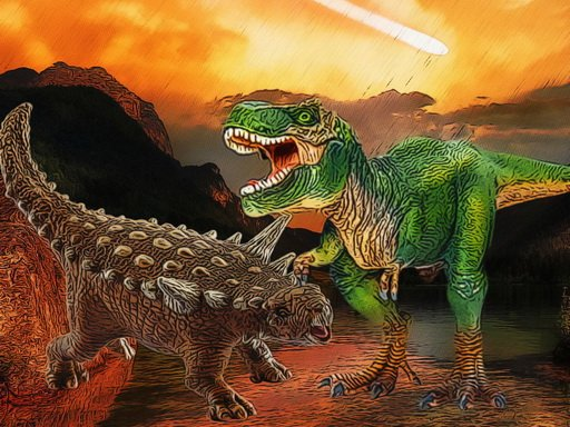 Play Dinosaurs Fight Jigsaw Game