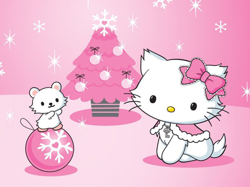 Play Hello Kitty Christmas Jigsaw Puzzle Game