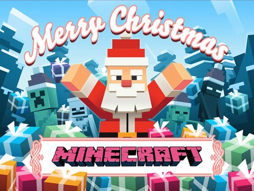 Play MineCraft Christmas Jigsaw  Puzzle Game