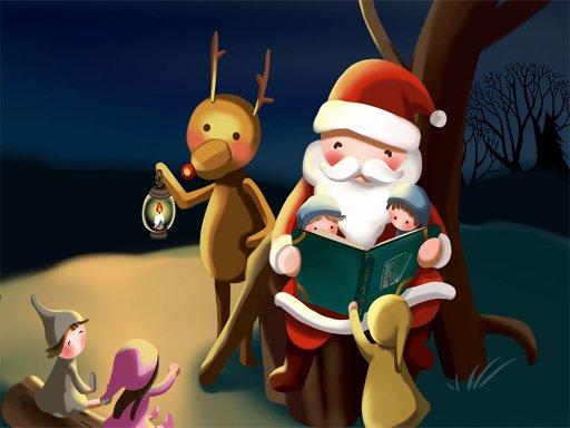 Play Merry Christmas Puzzles Game