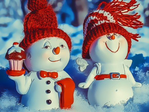 Play Snowman Couples Game