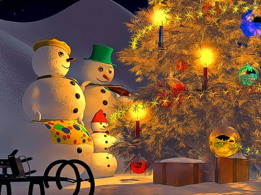 Play Snowman Family Time Game