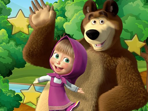 Play Masha and the Bear Hidden Stars Game