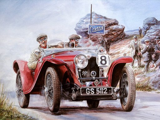Play Painting Vintage Cars Jigsaw Puzzle 2 Game