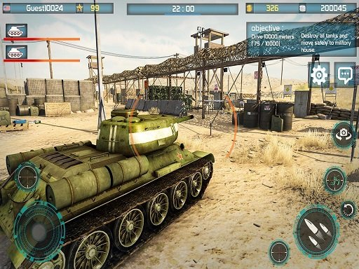 Play Tank Battle 3D : War of Tanks 2k20 Game
