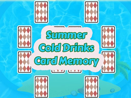 Play Summer Cold Drinks Card Memory Game
