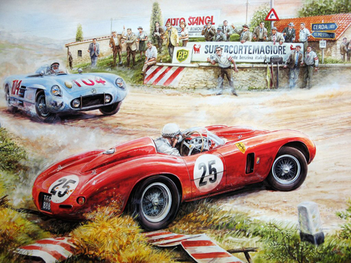 Play Painting Vintage Cars Jigsaw Puzzle Game