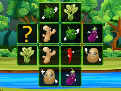 Play Vegetable Cards Match Game