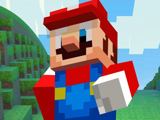 Play Super Mario MineCraft Runner Game
